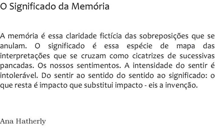 O Significado da Memória