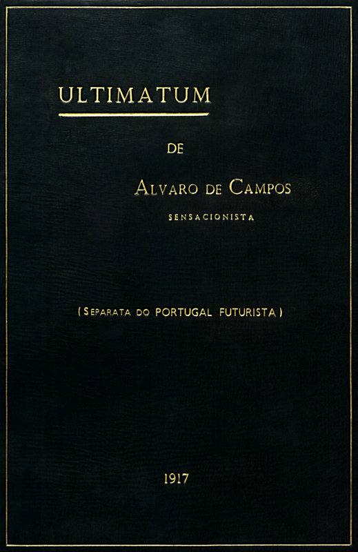cover - Ultimatum, de Álvaro de Campos