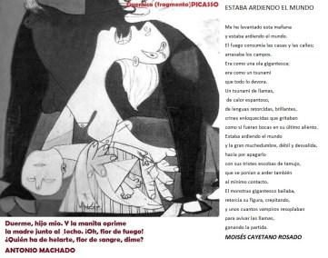 Copia. Picasso - Guernica. A. Machado - niño muerto