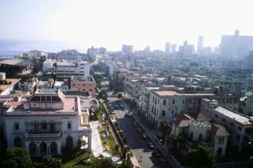 El Vedado delante y Centro Habana al fondo