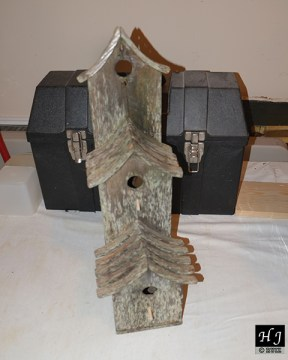 Repaired old birdhouse