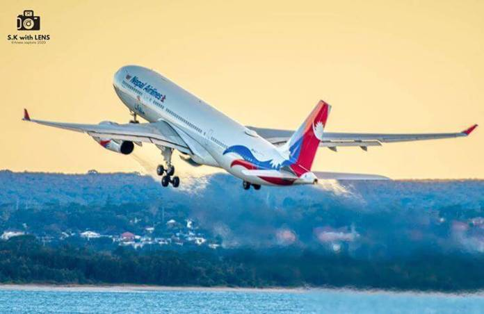 nepal airlines a330 off to skies