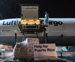 Lufthansa is flying out relief-aid goods to Puerto Rico 1
