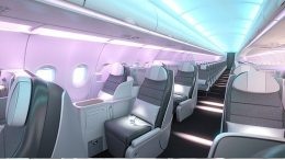 What Airbus is showcasing at the Aircraft Interiors Expo 2018 in Hamburg? 32