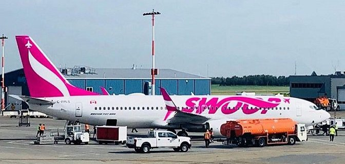 Swoop started service to London, Ontario, Canada 1