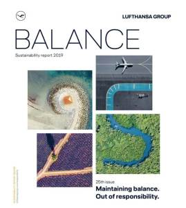 Maintaining balance. Out of responsibility: Lufthansa publishes 25th sustainability report