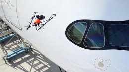 Your airplane was inspected by Drone #167 48