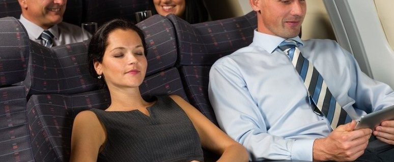 Airline passengers becoming less social on planes 11