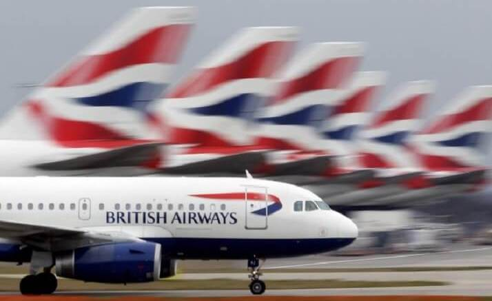 British Airways flights nearly 100% grounded 1