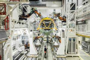 Airbus inaugurates new A320 structure assembly line in Hamburg