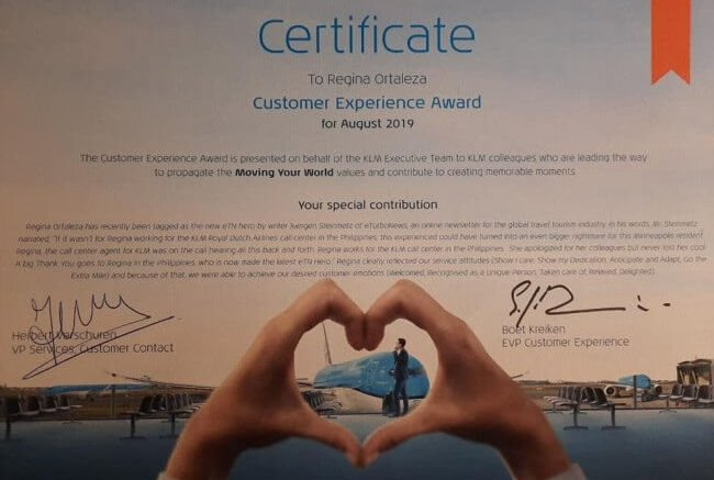 KLM Agent in the Philippines saved American Traveler in Moscow and gets awarded twice 1