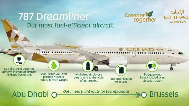 Etihad Airways operates eco-flight from Abu Dhabi to Brussels 1
