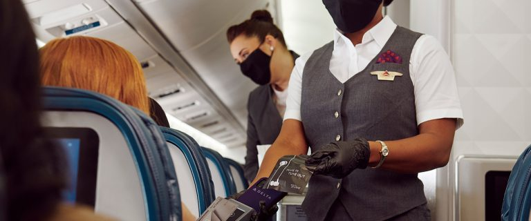 Touchless tech: Delta Air Lines introduces onboard contactless payment 44