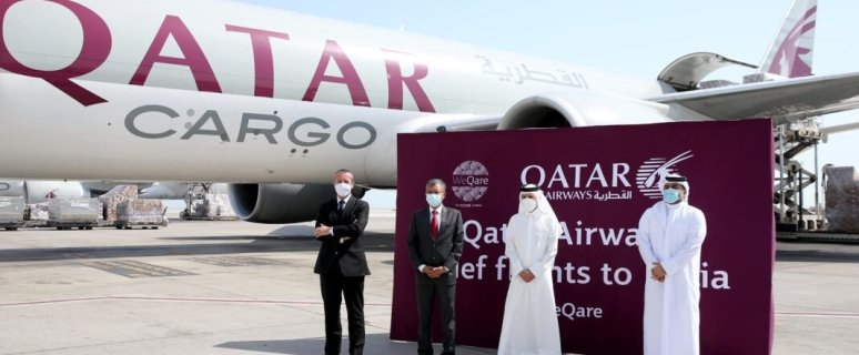 Qatar Airways Cargo convoy flies medical aid and equipment to India 43