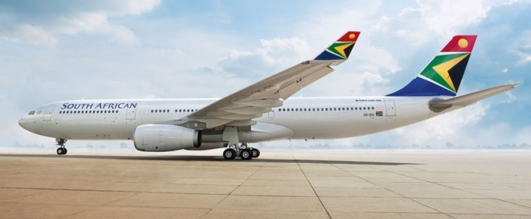 Johannesburg to Cape Town flight on South African Airways now 1
