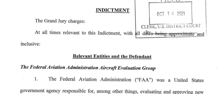 FAA Was Tricked To Certify Boeing 737 MAX: New Federal Grand Jury Criminal Indictment 1