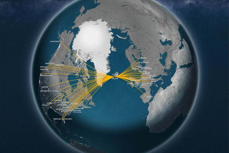 icelandair routemap