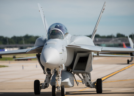 """BOEING'S """"ADVANCED SUPER HORNET"""" BUZZES INTO THE AIR FOR ..."""