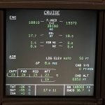 Airbus ECAM System Display - Cruise Page