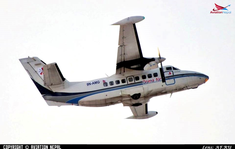 Photo: Goma Air Let-410