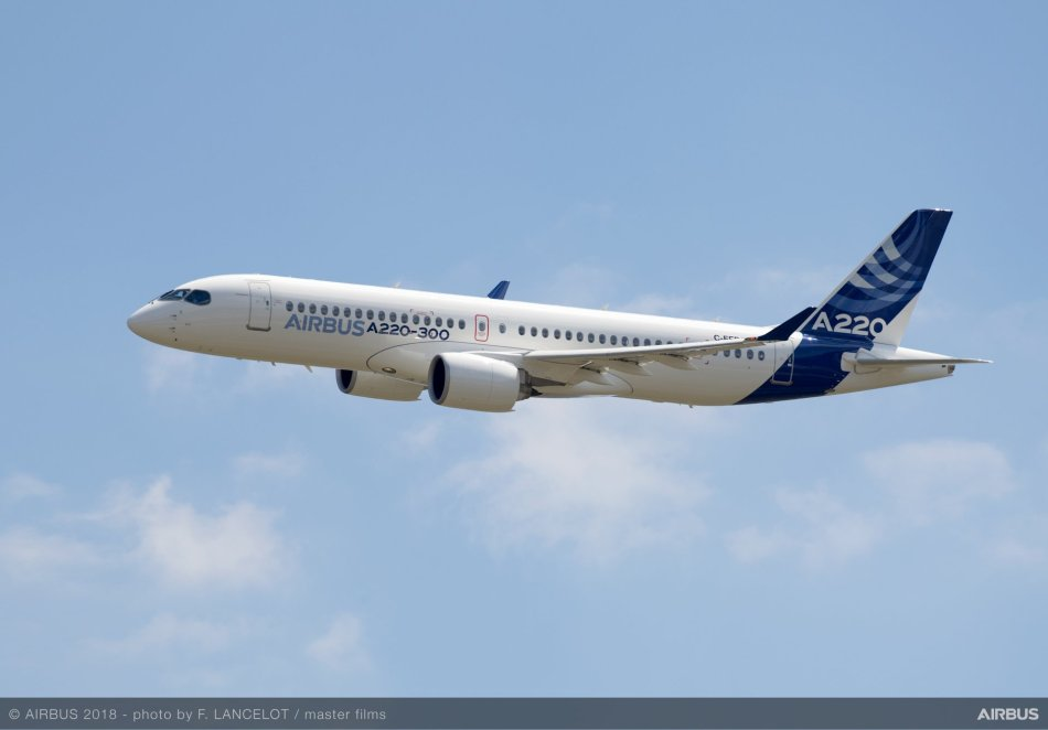 Airbus-A220-300-new-member-of-the-airbus-Single-aisle-Family