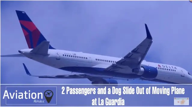 Reports: 2 passengers open Delta flight cabin door, slide out of moving plane