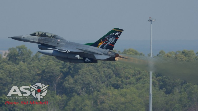 F-16B from 403 Sqn out of Takhli Air Base
