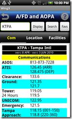 AFD communications screen