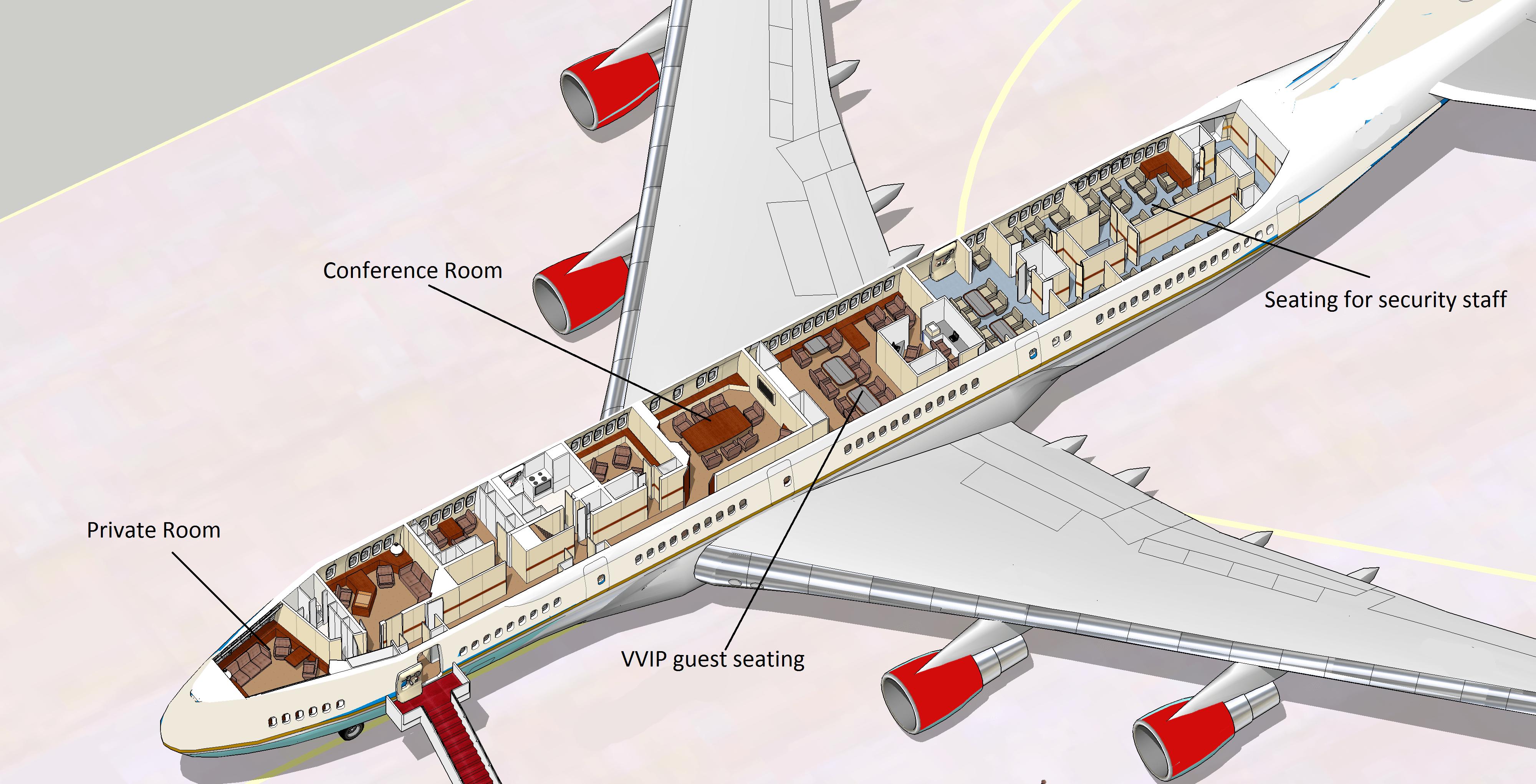 Inside Air India One Aircraft - Aviator Flight