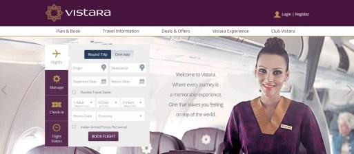 Vistara Airlines Flight Ticket Booking