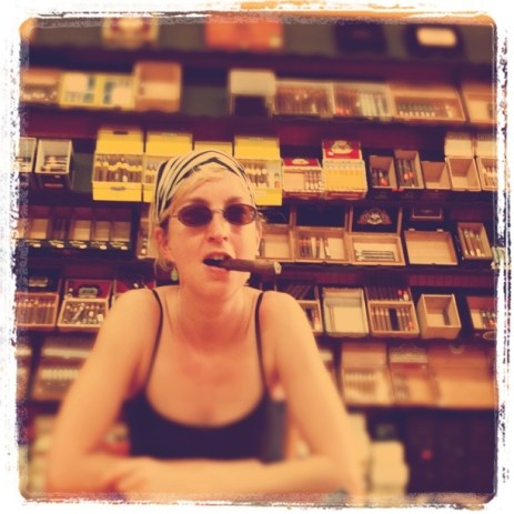 Me with a stogie