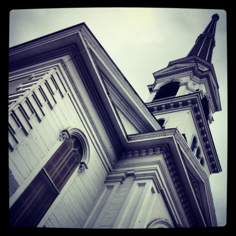 Cloudy steeple