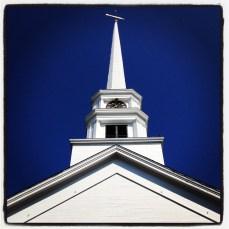 VT straight-on steeple