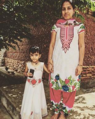 Mom and daughter in Karnataka
