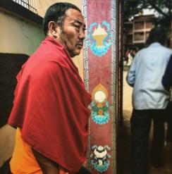 Fierce Tibetan Buddhist monk