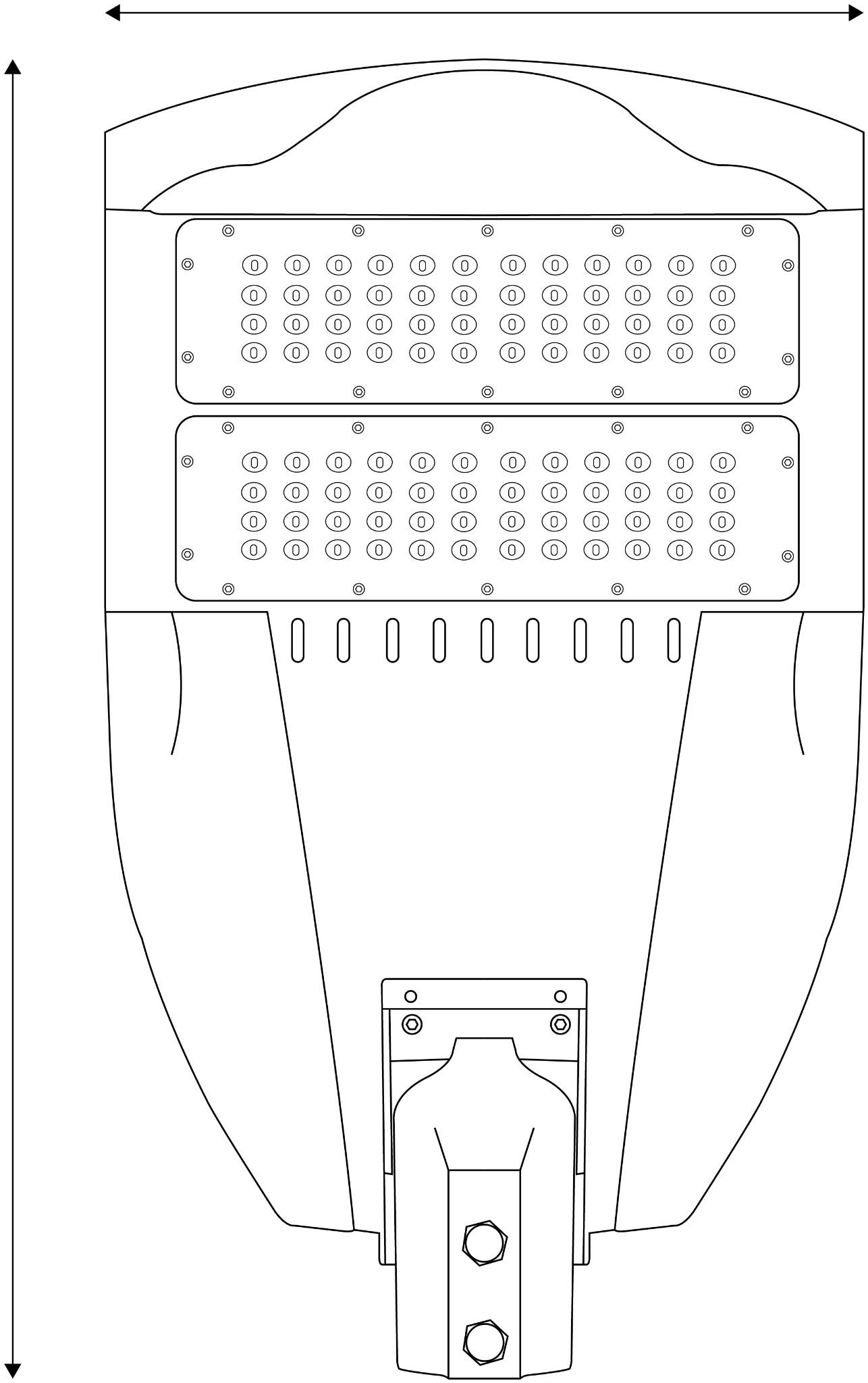 Avide Led Street Lamp Smd Modular 100w Nw K
