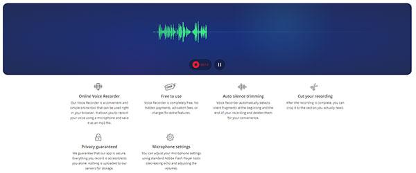 Online Voice Recorder screenshot