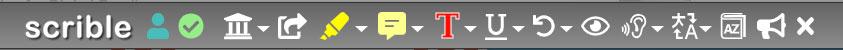 Scrible Toolbar Screenshot