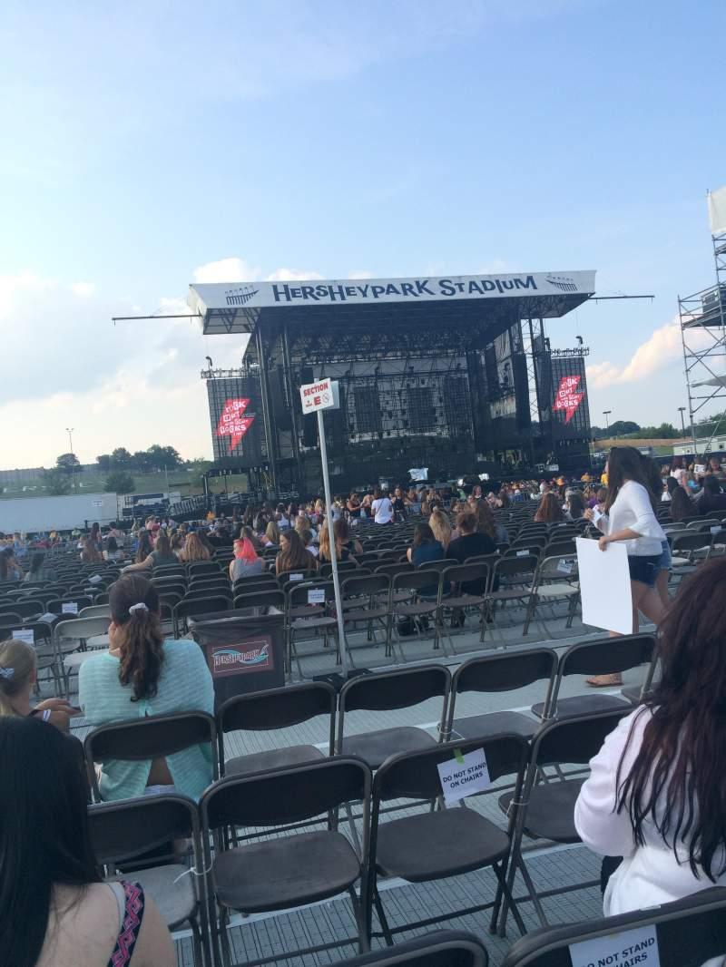 Hershey Park Stadium Seating Row Map