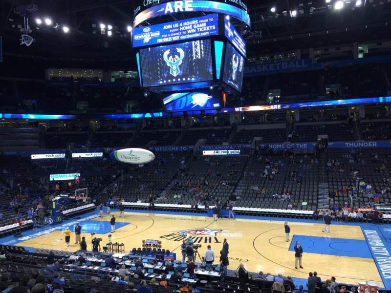 Chesapeake Energy Arena Section 115 Home Of Oklahoma
