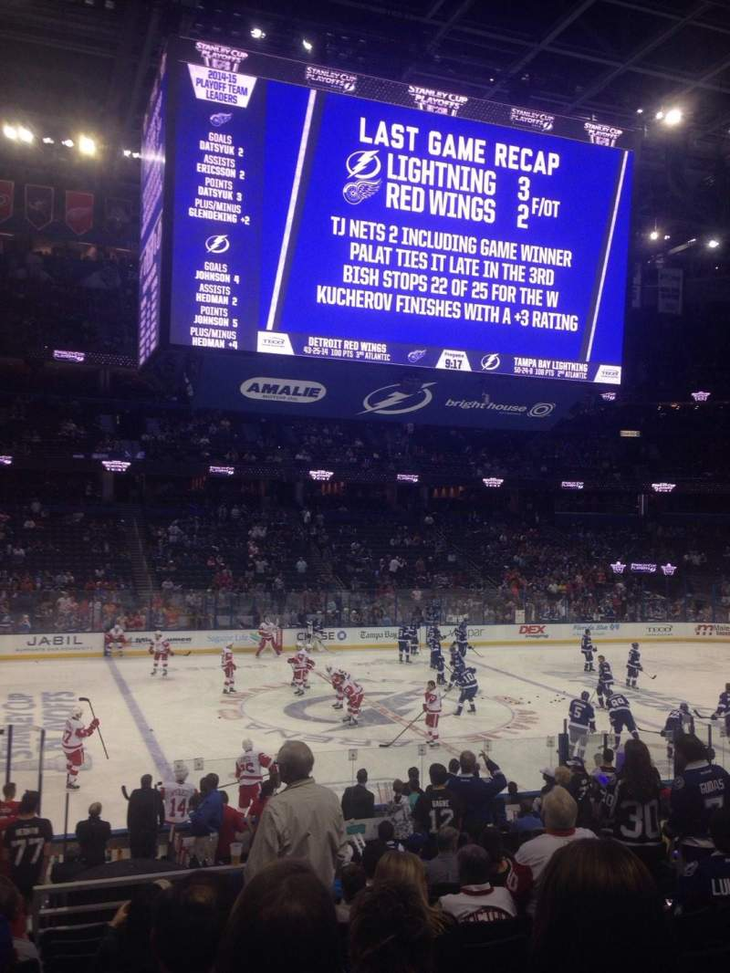 Amalie Arena Section 102 Home Of Tampa Bay Lightning