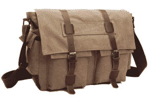 Zuolunduo Vintage Canvas Laptop Messenger Bag