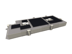 commercial solar feasibility study 3d rendering