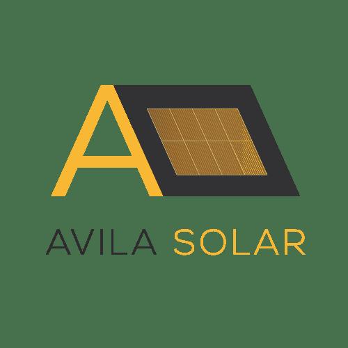 Transparent Avila Solar Logo
