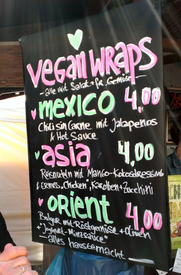 Vegan Wraps auf dem Vegan Street Day in Stuttgart