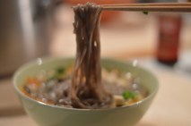 Japanese Miso Soup with Soba Noudles