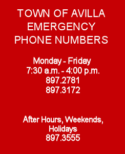 Town of Avilla Emergency Numbers