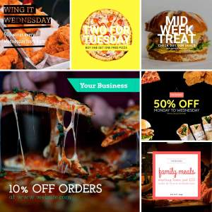 Restaurant Marketing Templates - Special Offers & Meal Deals