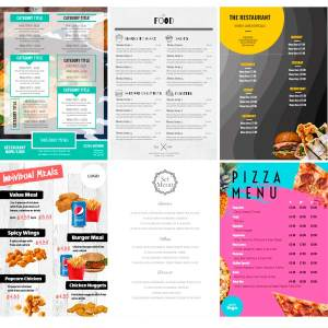 Restaurant Marketing Templates - Takeaway Menus