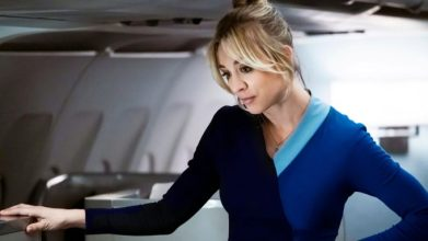 Kaley Cuoco stars in The Flight Attendant. HBO Max orders second series